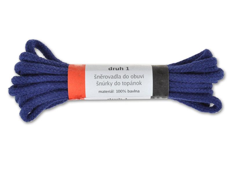 Modré kulaté tkaničky silné bavlněné 59 fb1d12d7c1